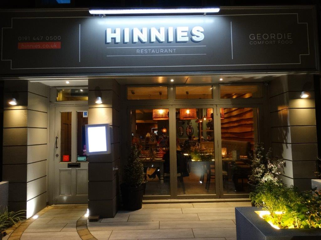 Hinnies Restaurant Whitley Bay Food Menu